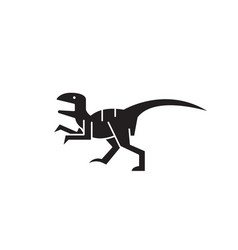 raptor black concept icon raptor flat vector image