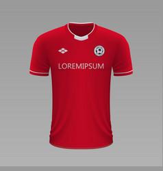realistic soccer shirt 2020 vector image
