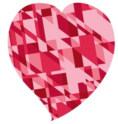 red heart for valentines day vector image