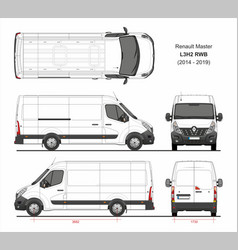 Renault master cargo van l3h2 rwd 2014-2019 vector