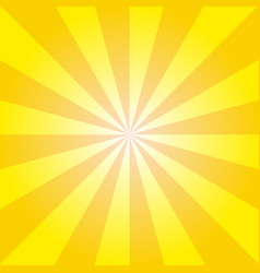 retro yellow ray background in vintage style vector image