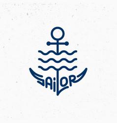 sailor logo vector image