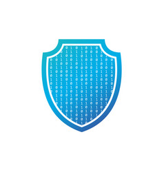 security concept isolated shield with binary code vector image