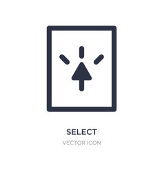 Select icon on white background simple element vector