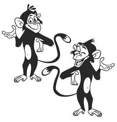 Set of cartoon monkey expression vector