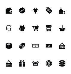 Shopping icons 4 vector