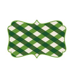 Sign green irish vector