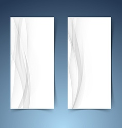 Smooth abstract swoosh wave hi-tech banner layout vector image vector image