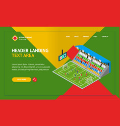 soccer stadium competition landing web page vector image