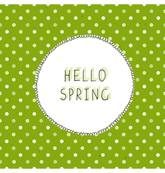 spring green vector image