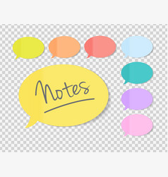 Sticky office paper sheets notes speech bubble vector