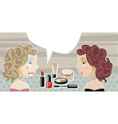 Stylish Ladies And Cosmetics vector