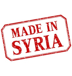 Syria - made in red vintage isolated label vector