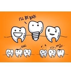 Teeth juicy orange cartoons vector