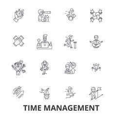time management clock timeline planning vector image