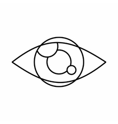 Tracking eye icon outline style vector image