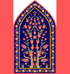 Traditional floral design vector
