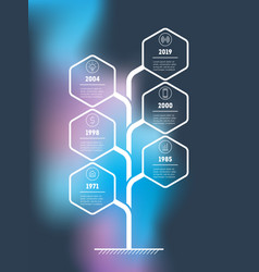 Vertical tree or timeline infographics the vector