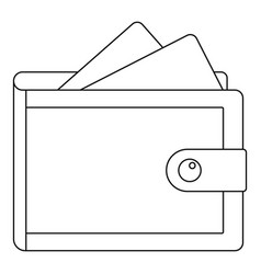 wallet icon outline style vector image