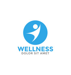 wellness graphic design element template vector image