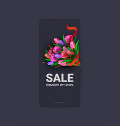 Womens day 8 march holiday celebration sale banner vector