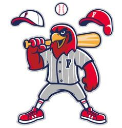 Baseball falcon mascot vector