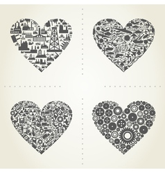Heart the industry2 vector image vector image