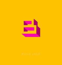 b box logo b monogram vector image