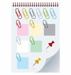 clips and thumbtacks vector image