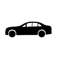 limousine black silhouettes vector image vector image