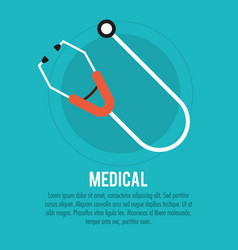 medical stethoscope health care vector image vector image