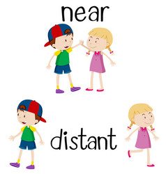 Opposite words for near and distant vector