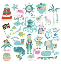 pirate party collection vector image