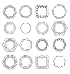 Set ornamental lace pattern Abstract ornament vector image