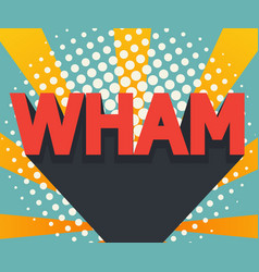 abstract wham pop art comic book background vector image
