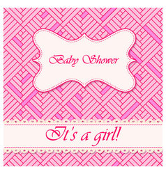 Baby-shower-abstract-background-girl-2 vector image vector image