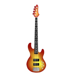 Beautiful Red Electric Guitar on White Background vector image vector image