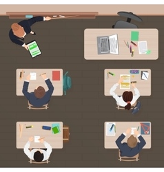 Classroom modern lesson in school university or vector image