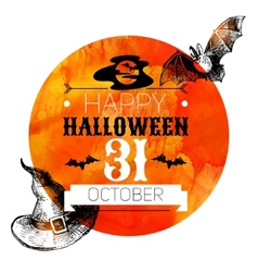 Halloween background typographic poster hand drawn vector