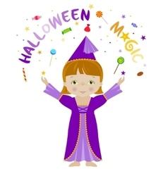 Halloween magic cartoon vector image vector image