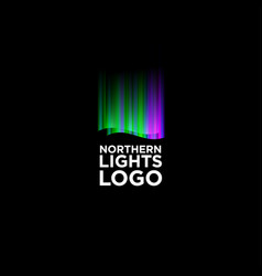 northern lights logo vector image
