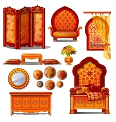 Rich luxury furniture in Oriental style vector image