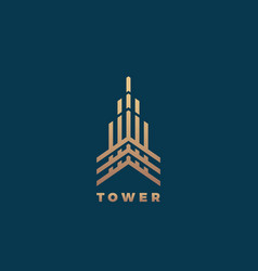 tower abstract geometry minimal sign vector image vector image