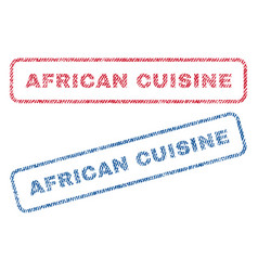 african cuisine textile stamps vector image vector image