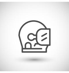 Astronaut helmet line icon vector image vector image