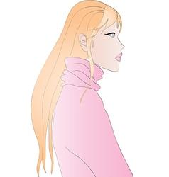 Beautiful blonde girl vector image vector image