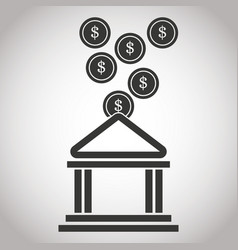 building bank coin money banking pictogram image vector image vector image
