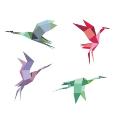 Cranes and herons vector