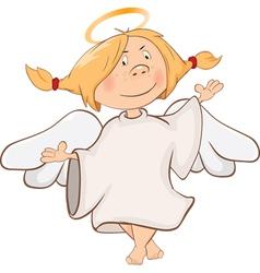 Cute Angel Cartoon Character vector image