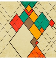 Rhombus retro abstract background ornament vector image vector image